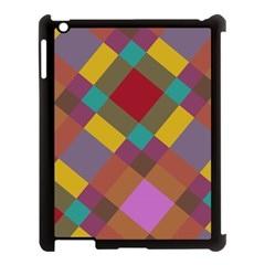 Shapes pattern Apple iPad 3/4 Case (Black) by LalyLauraFLM