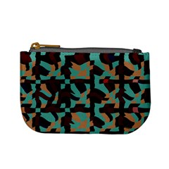 Distorted Shapes In Retro Colors Mini Coin Purse by LalyLauraFLM