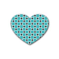 Cute Pretty Elegant Pattern Heart Coaster (4 Pack)  by creativemom