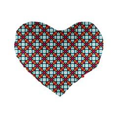 Cute Pretty Elegant Pattern Standard 16  Premium Heart Shape Cushions by creativemom