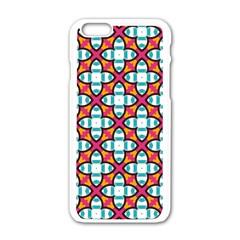Pattern 1284 Apple Iphone 6 White Enamel Case by creativemom