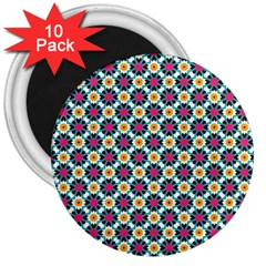 Cute Abstract Pattern Background 3  Magnets (10 Pack)  by creativemom