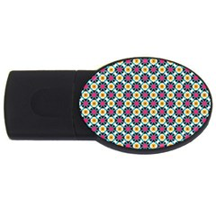 Cute Abstract Pattern Background Usb Flash Drive Oval (2 Gb)  by creativemom