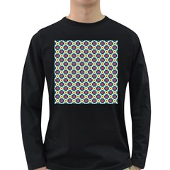 Cute Abstract Pattern Background Long Sleeve Dark T Shirts by creativemom