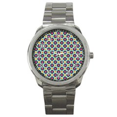 Cute Abstract Pattern Background Sport Metal Watches by creativemom