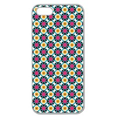 Cute Abstract Pattern Background Apple Seamless Iphone 5 Case (clear) by creativemom