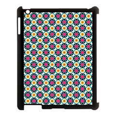 Cute Abstract Pattern Background Apple Ipad 3/4 Case (black) by creativemom