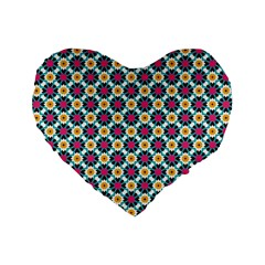 Cute Abstract Pattern Background Standard 16  Premium Heart Shape Cushions by creativemom