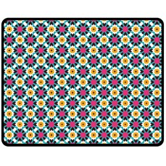 Cute Abstract Pattern Background Double Sided Fleece Blanket (medium)  by creativemom