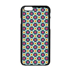 Cute Abstract Pattern Background Apple Iphone 6 Black Enamel Case by creativemom