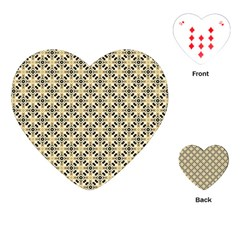 Cute Pretty Elegant Pattern Playing Cards (heart)  by creativemom
