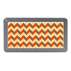 Modern Retro Chevron Patchwork Pattern  Memory Card Reader (Mini)