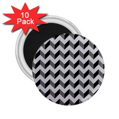Modern Retro Chevron Patchwork Pattern  2 25  Magnets (10 Pack)  by creativemom