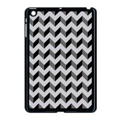 Modern Retro Chevron Patchwork Pattern  Apple Ipad Mini Case (black) by creativemom