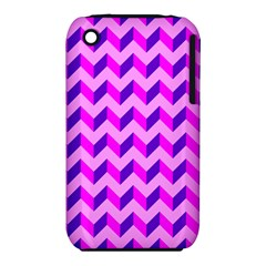 Modern Retro Chevron Patchwork Pattern Apple Iphone 3g/3gs Hardshell Case (pc+silicone) by creativemom