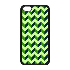 Modern Retro Chevron Patchwork Pattern Apple Iphone 5c Seamless Case (black) by creativemom