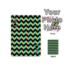 Modern Retro Chevron Patchwork Pattern Playing Cards 54 (Mini)  by creativemom