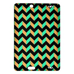 Modern Retro Chevron Patchwork Pattern Kindle Fire Hd (2013) Hardshell Case by creativemom