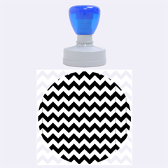 Modern Retro Chevron Patchwork Pattern Rubber Round Stamps (large) by creativemom