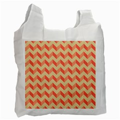 Modern Retro Chevron Patchwork Pattern Recycle Bag (Two Side)  by creativemom