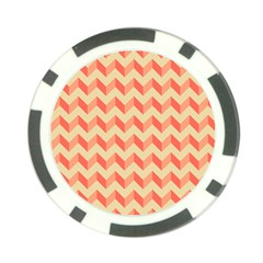 Modern Retro Chevron Patchwork Pattern Poker Chip Card Guards (10 pack)  by creativemom