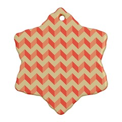 Modern Retro Chevron Patchwork Pattern Snowflake Ornament (2 Side) by creativemom