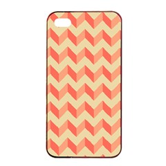 Modern Retro Chevron Patchwork Pattern Apple Iphone 4/4s Seamless Case (black) by creativemom
