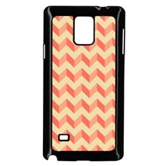 Modern Retro Chevron Patchwork Pattern Samsung Galaxy Note 4 Case (black)