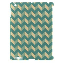 Modern Retro Chevron Patchwork Pattern Apple iPad 3/4 Hardshell Case (Compatible with Smart Cover) by creativemom