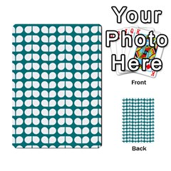 Teal And White Leaf Pattern Multi Purpose Cards (rectangle)  by creativemom