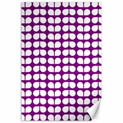 Purple And White Leaf Pattern Canvas 20  X 30   by creativemom