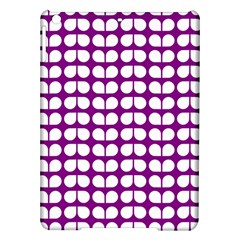 Purple And White Leaf Pattern Ipad Air Hardshell Cases by creativemom