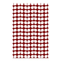 Red And White Leaf Pattern Shower Curtain 48  x 72  (Small)  by creativemom