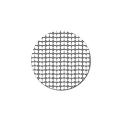 Gray And White Leaf Pattern Golf Ball Marker (4 Pack) by creativemom