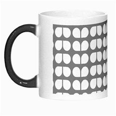 Gray And White Leaf Pattern Morph Mugs by creativemom