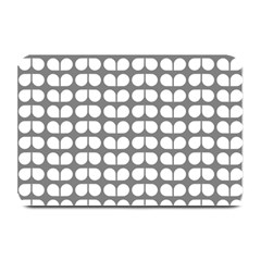 Gray And White Leaf Pattern Plate Mats by creativemom