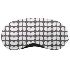 Gray And White Leaf Pattern Sleeping Masks by creativemom