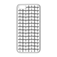Gray And White Leaf Pattern Apple Iphone 5c Seamless Case (white) by creativemom