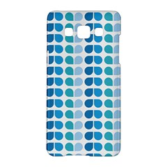 Blue Green Leaf Pattern Samsung Galaxy A5 Hardshell Case  by creativemom