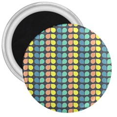 Colorful Leaf Pattern 3  Magnets by creativemom