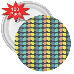 Colorful Leaf Pattern 3  Buttons (100 pack)  by creativemom