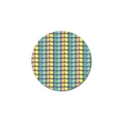 Colorful Leaf Pattern Golf Ball Marker (4 Pack) by creativemom