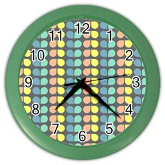 Colorful Leaf Pattern Color Wall Clocks by creativemom