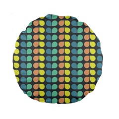 Colorful Leaf Pattern Standard 15  Premium Round Cushions by creativemom