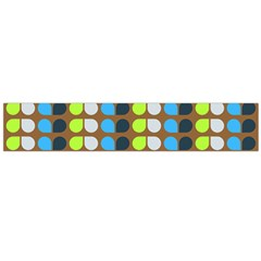 Colorful Leaf Pattern Flano Scarf (large)