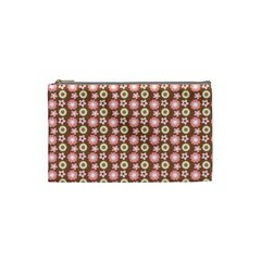 Cute Floral Pattern Cosmetic Bag (Small)  by creativemom