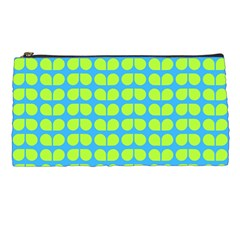 Blue Lime Leaf Pattern Pencil Cases by creativemom