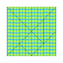Blue Lime Leaf Pattern Acrylic Tangram Puzzle (6  X 6 ) by creativemom