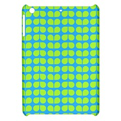 Blue Lime Leaf Pattern Apple Ipad Mini Hardshell Case by creativemom