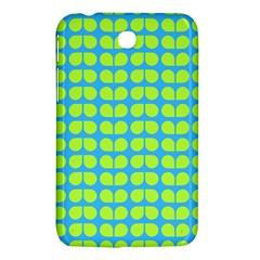 Blue Lime Leaf Pattern Samsung Galaxy Tab 3 (7 ) P3200 Hardshell Case  by creativemom